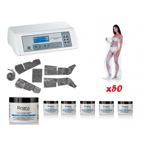 KIT 50 soins drainants : Couverture de Pressothérapie + 50 pantalons de pressothérapie + 6 gels de cryothérapie