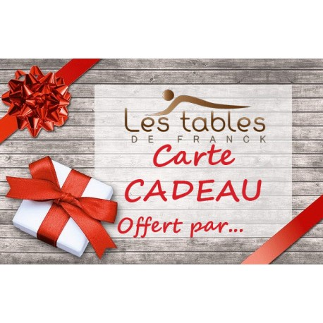 Carte cadeau - Les Tables de Franck